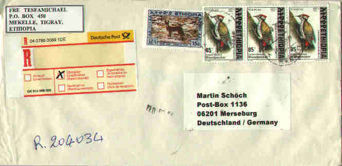 where to write address on envelope in germany