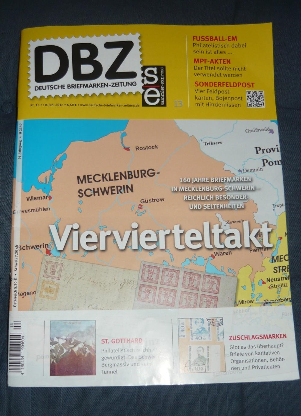 Deutsche Briefmarken Zeitung Heft 13 2016 Ebay